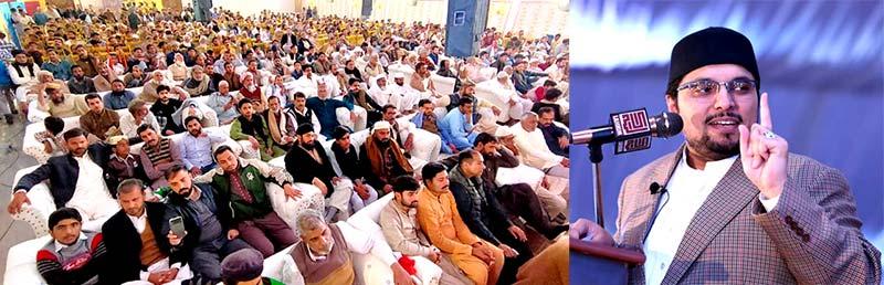 علی پور چٹھہ میں قائد ڈے کی تقریب، ڈاکٹر حسین محی الدین قادری کا خطاب