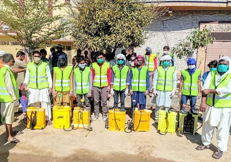 منہاج یوتھ لیگ کا فیصل آباد میں جراثیم کُش سپرے مہم کا آغاز