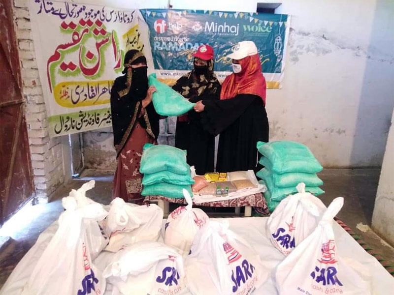 Minhaj-ul-Quran Women League initiated countrywide 'Food Support Program'