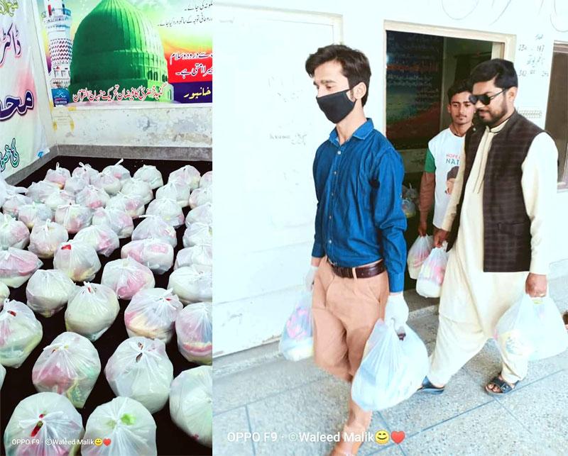 خانپور (رحیم یار خان): منہاج ویلفیئر فاؤنڈیشن کی جانب سے راشن پیکجز کی تقسیم