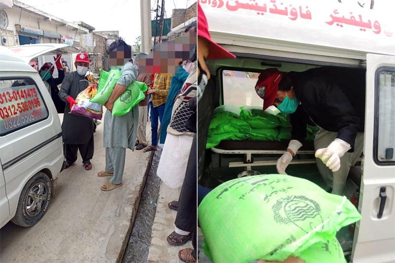 واہ کینٹ: منہاج ویلفیئر فاؤنڈیشن کی جانب سے راشن پیکجز کی تقسیم