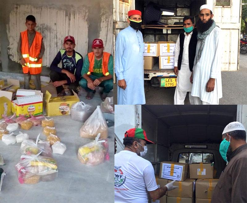 لاہور (PP-165): منہاج ویلفیئر فاؤنڈیشن کی جانب سے راشن پیکجز کی تقسیم