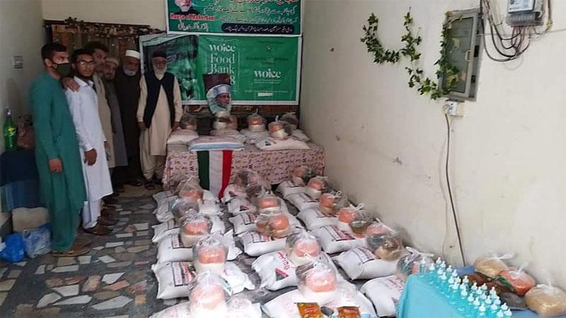 پشاور: منہاج ویلفیئر فاؤنڈیشن کی جانب سے راشن پیکجز کی تقسیم