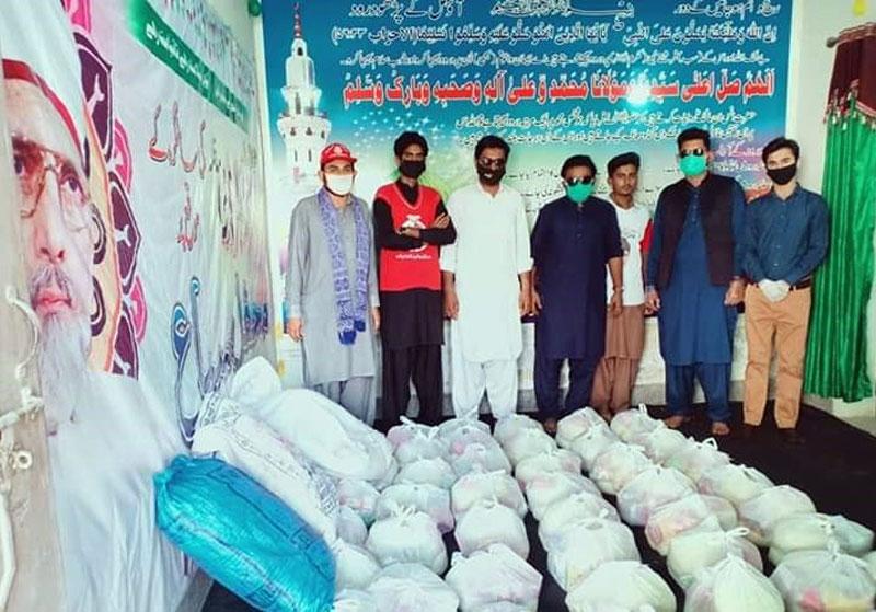 خانپور (رحیم یار خان): منہاج ویلفیئر فاؤنڈیشن کی جانب سے راشن پیکجز کی تقسیم (فیز 2)