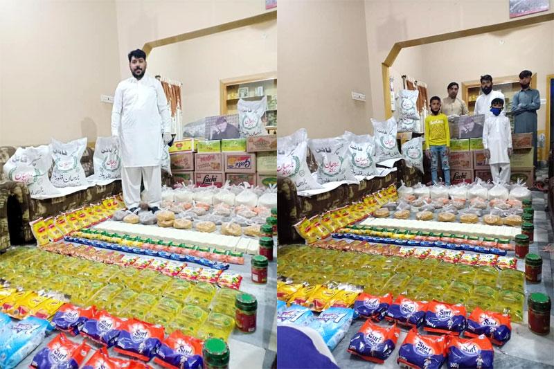 پیروشاہ (گجرات): منہاج ویلفیئر فاؤنڈیشن کی جانب سے راشن پیکجز کی تقسیم