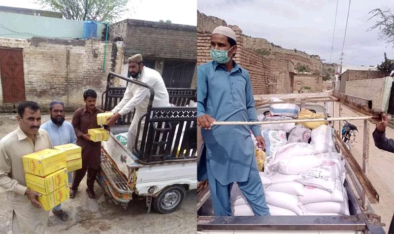 وروال (چکوال): منہاج ویلفیئر فاؤنڈیشن کی جانب سے راشن پیکجز کی تقسیم