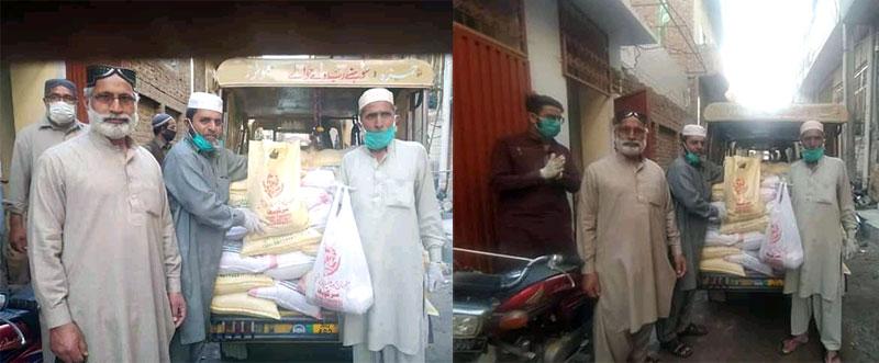چوٹالہ (جہلم): منہاج ویلفیئر فاؤنڈیشن کی جانب سے راشن پیکجز کی تقسیم