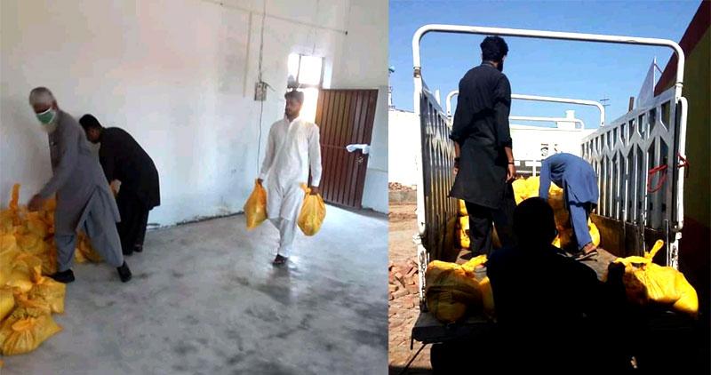 گوجر خان: منہاج ویلفیئر فاؤنڈیشن کی جانب سے راشن پیکجز کی تقسیم
