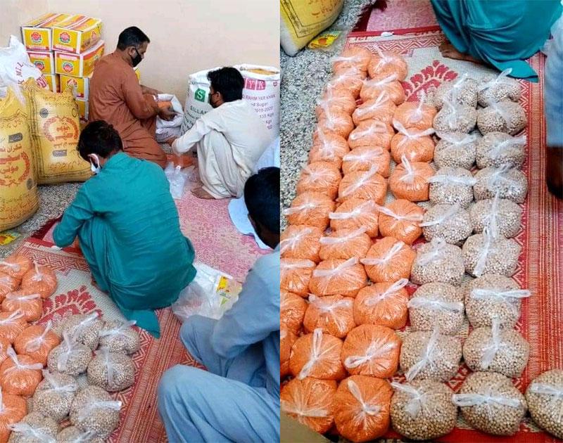 برنالہ (آزاد کشمیر): منہاج ویلفیئر فاؤنڈیشن کی جانب سے راشن پیکجز کی تقسیم