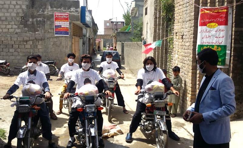 ہری پور: منہاج ویلفیئر فاؤنڈیشن کی جانب سے راشن پیکجز کی تقسیم
