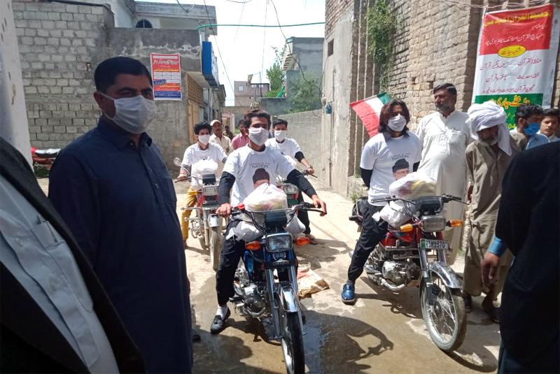 حویلیاں (کشمیر): منہاج ویلفیئر فاؤنڈیشن کی جانب سے راشن پیکجز کی تقسیم