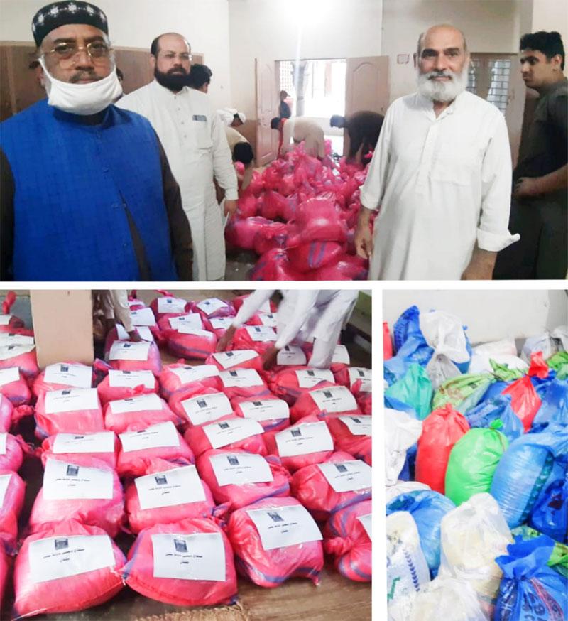 ملتان (بی): منہاج ویلفیئر فاؤنڈیشن کی جانب سے 300 مستحق گھرانوں میں راشن بیگز تقسیم
