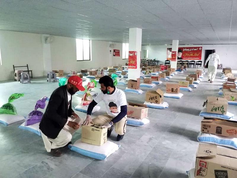 مانسہرہ: منہاج ویلفیئر فاؤنڈیشن کے تحت تیسرے مرحلے میں 140 مستحقین خاندانوں میں راشن تقسيم