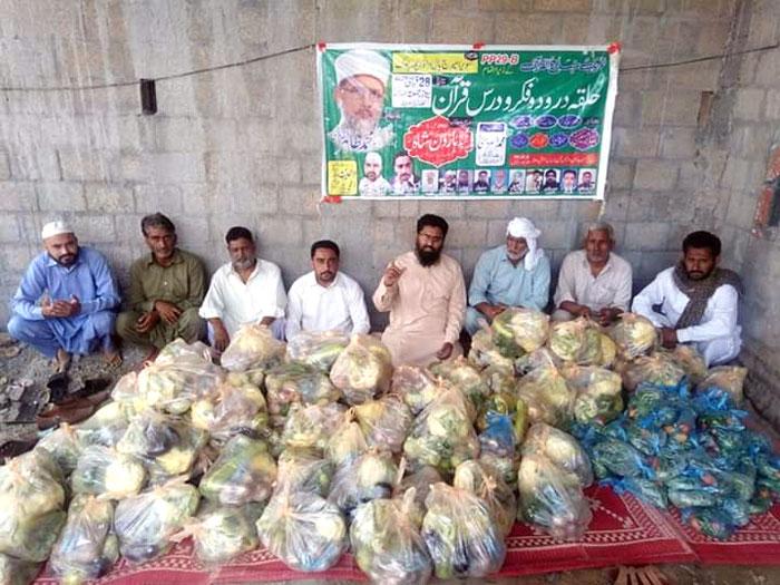 جلال پور جٹاں (گجرات): منہاج ویلفیئر فاؤنڈیشن کی جانب سے راشن پیکجز کی تقسیم