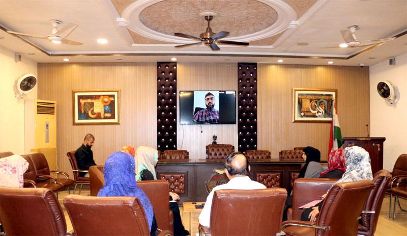 Dr. Hassan Mohi-ud-Din Qadri appreciates e-working initiative of MWL