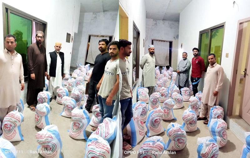 ڈسکہ (پی پی 43 جامکے چیمہ): منہاج ویلفیئر فاؤنڈیشن کا دوسرے مرحلے میں 127 مستحق گھرانوں میں راشن تقسیم