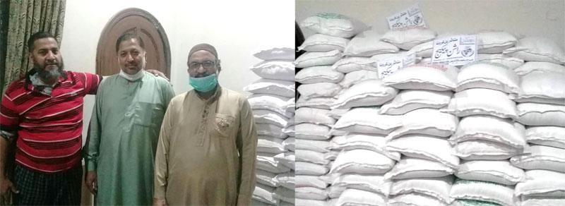 لاہور (پی پی 148): منہاج ویلفیئر فاؤنڈیشن کی جانب سے 300 مستحق گھرانوں میں راشن پیکجز کی تقسیم