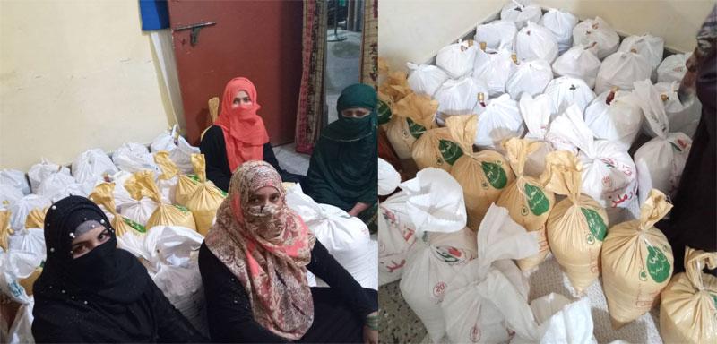 بھکر: ایم ایس ایم سسٹرز  کی جانب سے 22 مستحق گھرانوں میں راشن پیکجز کی تقسیم