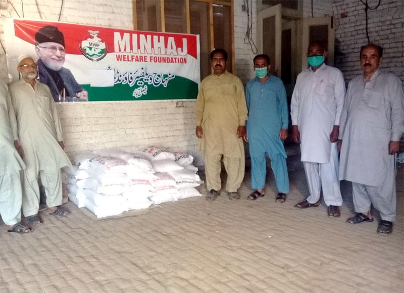 فیصل آباد (پی پی 108): منہاج ویلفیئر فاؤنڈیشن کی جانب سے مستحق گھرانوں میں راشن پیکجز کی تقسیم