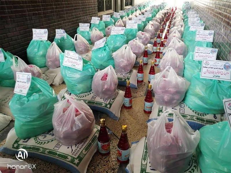 چکوال: منہاج ویلفیئر فاؤنڈیشن کی جانب سے چوتھے فیز میں 100 گھرانوں میں راشن پیکجز کی تقسیم