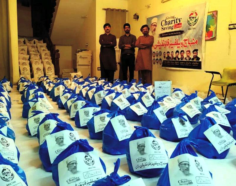 ملتان: منہاج ویلفیئر فاؤنڈیشن نے امدادی سرگرمیوں کے فیز ٹو میں 200 خاندانوں تک راشن پہنچا دیا