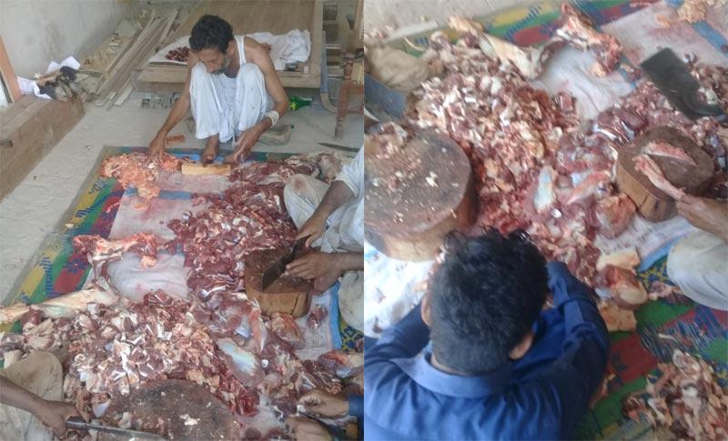 ڈاھرانوالا (بہاولنگر) : منہاج ویلفیئر فاؤنڈیشن کے زیراہتمام اجتماعی قربانی، مستحقین میں گوشت کی تقسیم