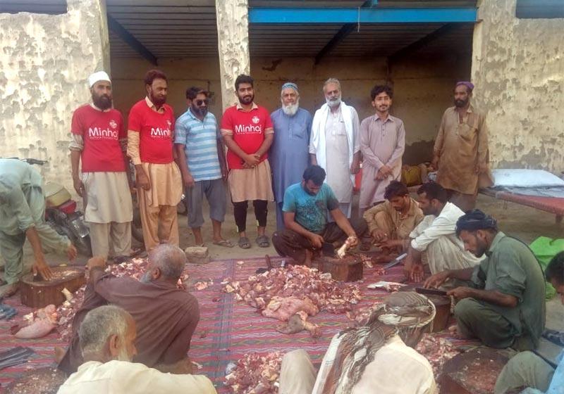 منڈی یزمان، بہاولپور: منہاج ویلفیئر فاؤنڈیشن کے زیراہتمام اجتماعی قربانی، مستحقین میں گوشت کی تقسیم