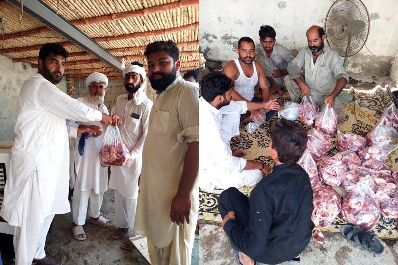 ڈیرہ اسماعیل خان: منہاج ویلفیئر فاؤنڈیشن کے زیراہتمام اجتماعی قربانی، مستحقین میں گوشت کی تقسیم
