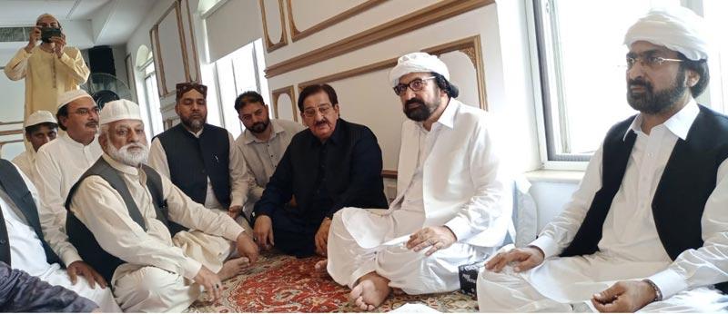 پیر شاہ عبدالحق آف گولڑہ شریف کی رحلت پر منہاج القرآن کے مرکزی قائدین کی تعزیت