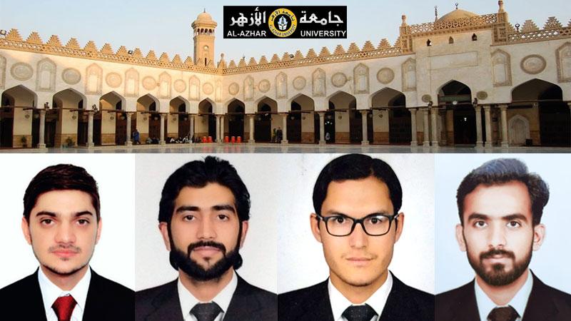 کالج آف شریعہ کے طلباء کی جامعۃ الازہر (مصر) میں نمایاں کامیابی