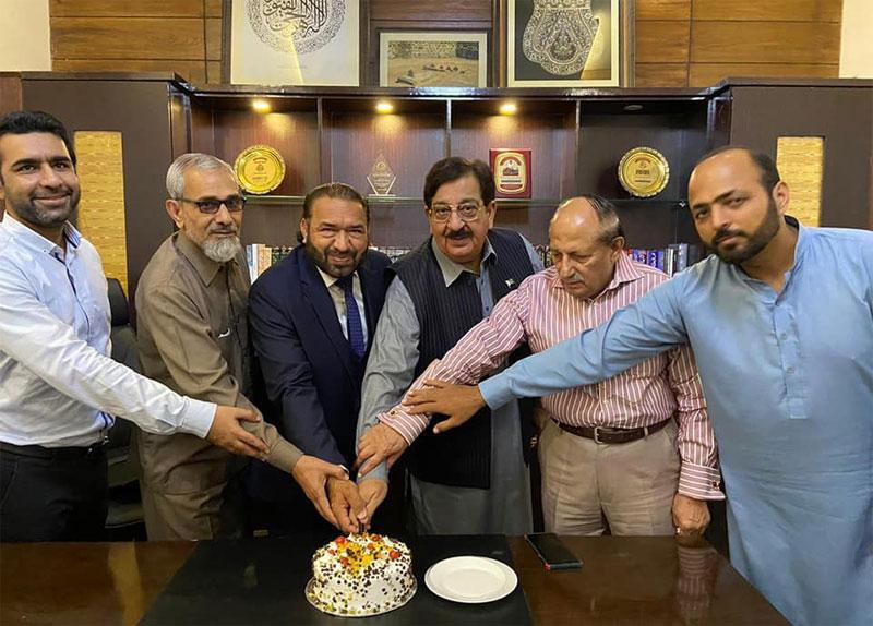 نظامت امورخارجہ میں ناظم اعلیٰ خرم نواز گنڈاپور کی سالگرہ تقریب