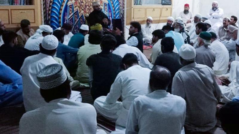علامہ احمد رضا خان قادری (مرحوم) کی برسی پر دعائیہ تقریب کا انعقاد