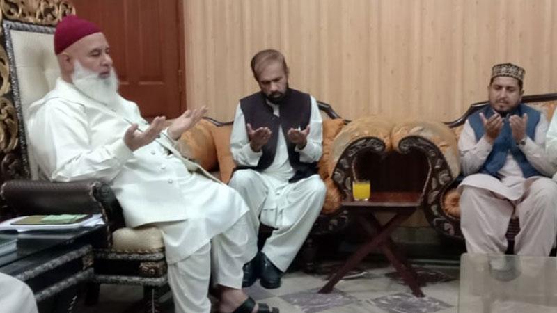 MQI delegation visits the residence of late Hasnat Ali Shah Kazmi Zanjani for condolences