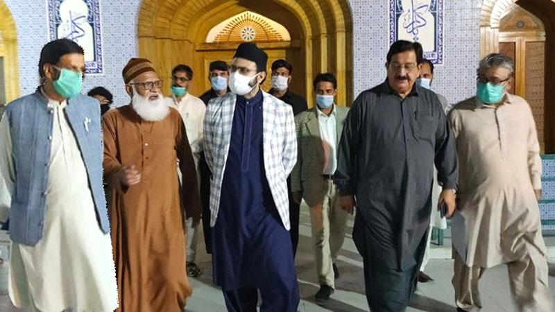 ڈاکٹر حسن محی الدین قادری کا جامع مسجد منہاج القرآن کا دورہ، تزئین و آرائش کے  کام کا جائزہ لیا