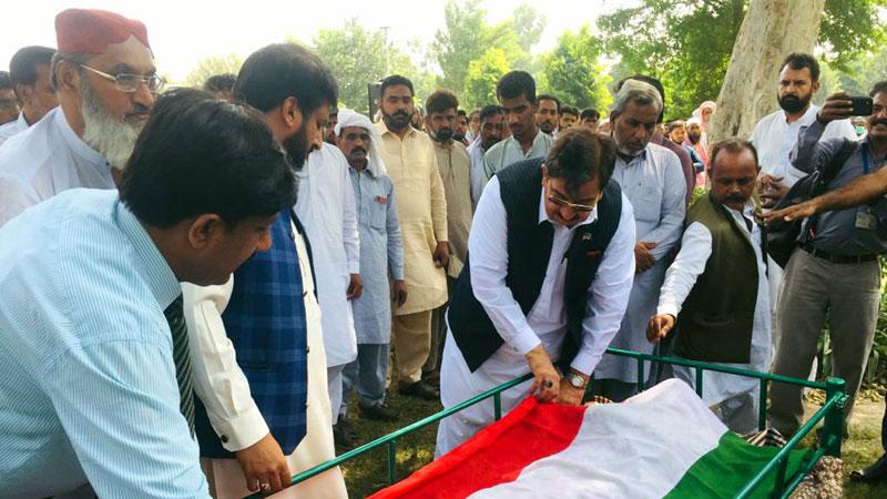 Sargodha: Khurram Nawaz Gandapur attends funeral prayer for Muhammad Tayyab