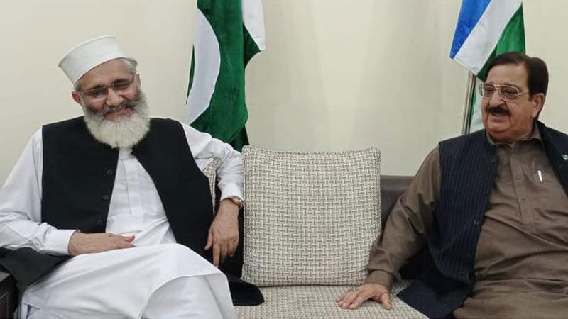 Khurram Nawaz Gandapur calls on Siraj-ul-Haq