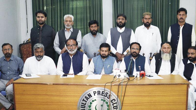 ملتان: پاکستان عوامی تحریک کے مرکزی و صوبائی قائدین کی پریس کانفرنس