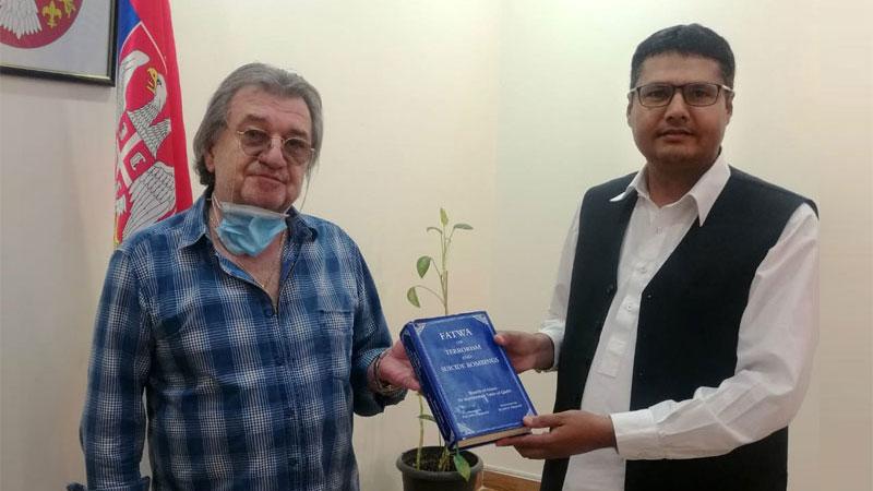 کویت: پاکستان عوامی سوسائٹی کے صدر میاں محمد آصف کی سربيا کے قونصلر سے ملاقات