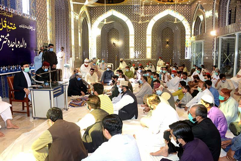 ڈائریکٹر منہاج ٹی وی احسن ارشاد کی والدہ مرحومہ کے لیے قرآن خوانی