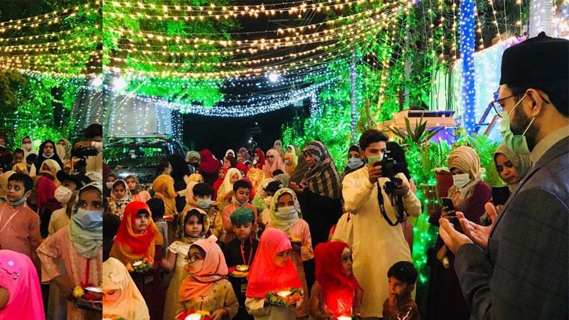 منہاج القرآن ویمن لیگ کے زیراہتمام بچوں کااستقبال ربیع الاول جلوس