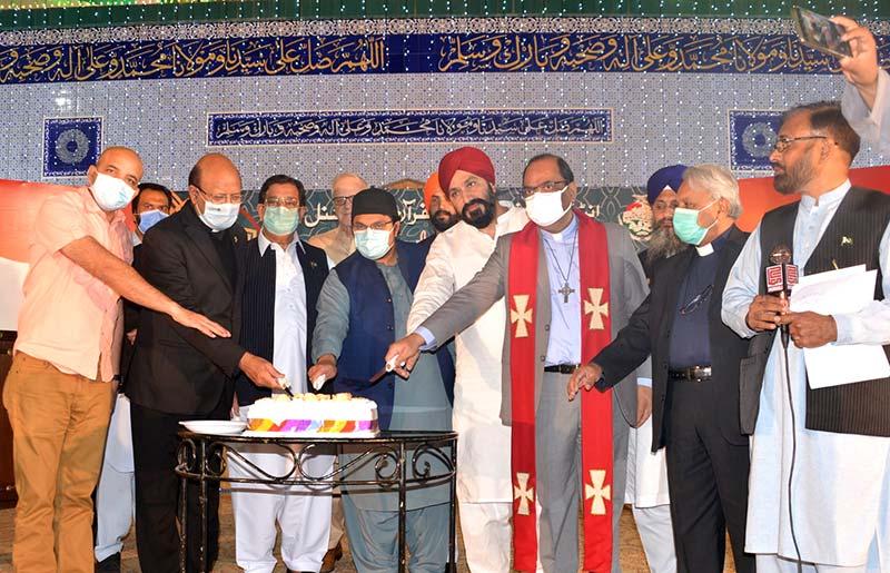 تحریک منہاج القرآن کی ضیافت میلاد میں مختلف مذاہب اور مسالک کے نمائندوں کی شرکت