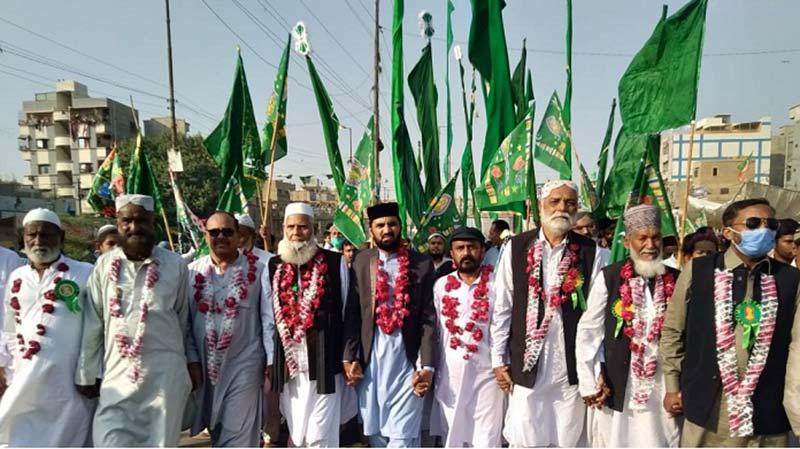 منہاج القرآن کراچی کے زیراہتمام میلاد جلوس