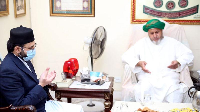 ڈاکٹر حسن محی الدین قادری کی حضور پیر سید محمود محی الدین القادری الگیلانی البغدادی سے انکی رہائش گاہ پر ملاقات