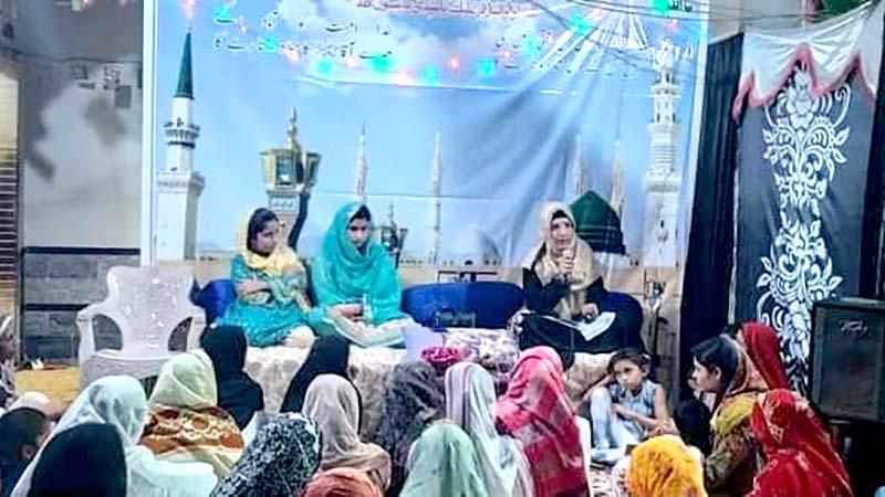 منہاج القرآن ویمن لیگ اپر سندھ کے زیراہتمام محافل میلاد کا انعقاد