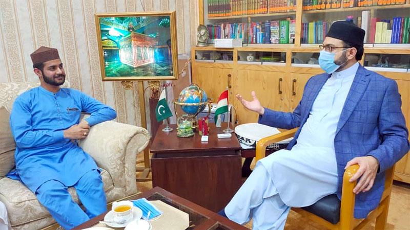Sahibzada Zain-ul-Abideen Kazmi calls on Dr Hassan Mohi-ud-Din Qadri