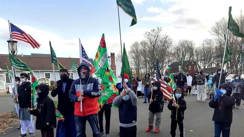 امریکہ: منہاج القرآن کے زیراہتمام ریاست کنیٹیکٹ میں سالانہ میلاد جلوس