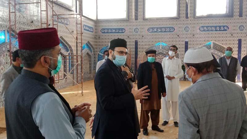 ڈاکٹر حسن محی الدین قادری کا جامع مسجد المنہاج کا دورہ، تزئن و آرائش کے کام کا جائزہ لیا