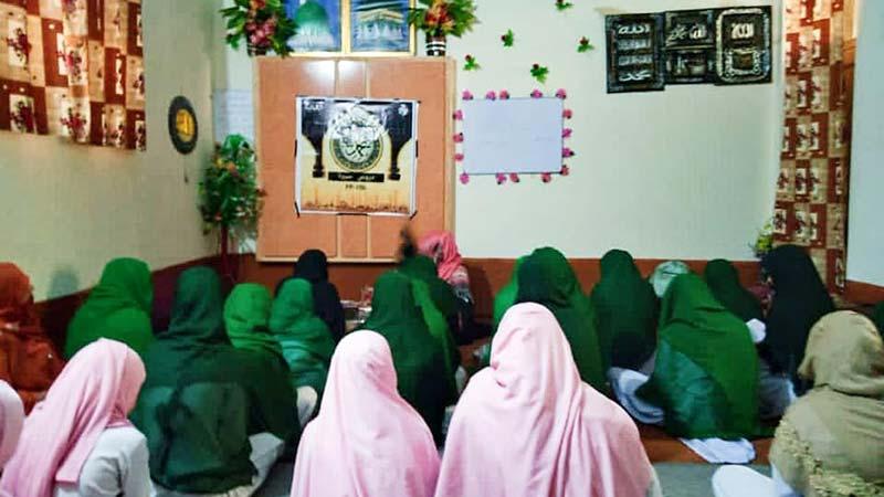 منہاج القرآن ویمن لیگ فیصل آباد کے زیراہتمام دروس سیرہ کی نشست