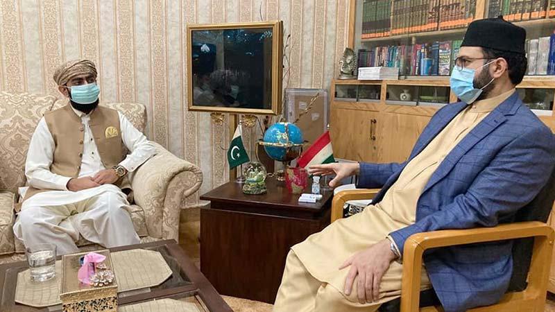 صاحبزادہ دیوان احمد مسعود چشتی کی ڈاکٹر حسن محی الدین قادری سے ملاقات