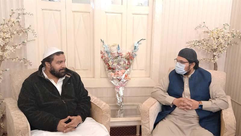ڈاکٹر حسین محی الدین قادری کی پیر سعید الحسن شاہ سے انکی رہائش گاہ پر ملاقات
